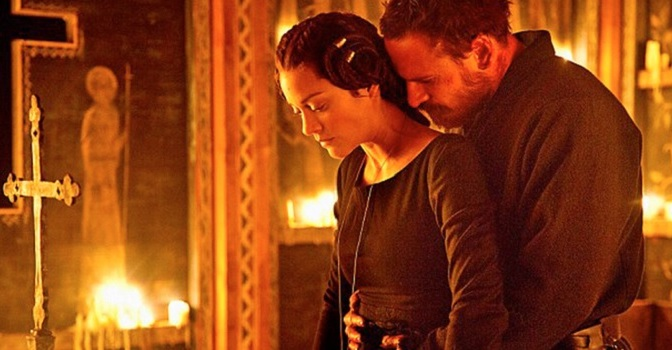 Michael Fassbender and Marion Cotillard in Macbeth