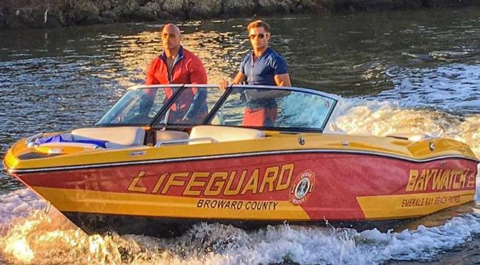 New Baywatch Image Featuring Dwayne Johnson and Kelly Rohrbach