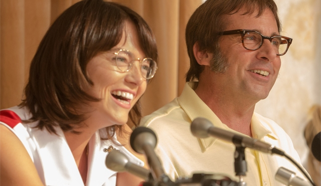 First Picture of Steve Carell and Emma Stone in Battle of the Sexes