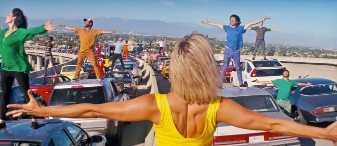 Watch Rehearsal of the LA Freeway Opening Scene from La La Land