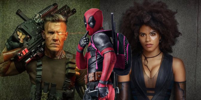 Photos of Cable and Domino from Deadpool 2